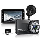 usb dash insert - Laydran 3.0 inch Dash Cam ,1080p Car DVR Dashboard Camera , 170 Degree Wide Angle Car Camera Recorder with Super Night Vision, G-Sensor, WDR, Loop Recording,8GB Micro SD Card