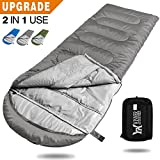sleeping bag - WINNER OUTFITTERS Camping Sleeping Bag, Portable Lightweight Rectangle/Mummy Backpacking Sleeping Bag with Compression Sack, 4 Season Sleeping Bags For Adults & Kids Camping Travel Summer Outdoor