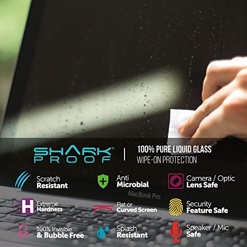 Shark Proof Liquid Glass Wipe-On Screen Protector - Invisible Scratch Resistance and 100% Bubble Free for Laptop / Macbook Screen by Shark Proof (Image #6)