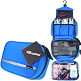 Image of Travelmall Toiletry Bags Hanging Travel Kit Organizer Cosmetic Pouch Business Handbag Bathroom Storage Christmas Gifts Blue