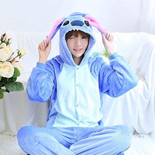 Mujer Blue Cosplay Casa De Pijamas Invierno Jylw Entera Traje Una Dormir Stitch Unicornio Pieza Conjuntos Ropa 1wTxqq64