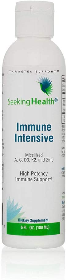 Immune Intensive | Powerful Dose of 5 Essential Immune Support Nutrients | Support Healthy Oxidative Stress Response | 6OZ | 36 Servings | Seeking Health