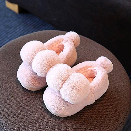 di paio radice morbido caldo anti 28 una inverno di Rosa pacchetto soggiorno pantofole 29 delizioso interne famiglia scarpe di fankou slittamento cotone Cotone 18cm del femmina tre di fondo CqRWX