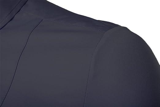 c41c6178b Kuson Camisa de manga larga para hombre camisas clásicas de negocios de  ocio slim fit