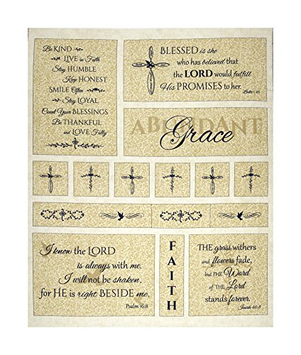 Timeless Treasures Abundant Grace 36in Abundant Grace Panel Cream Fabric