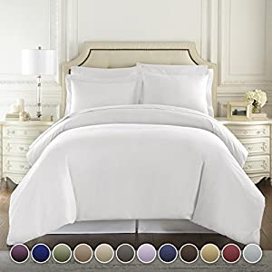 HC COLLECTION Hotel Luxury 3pc Duvet Cover Set-1500 Thread Count Egyptian Quality Ultra Silky Soft Premium Bedding Collection SIZES by HC Collection