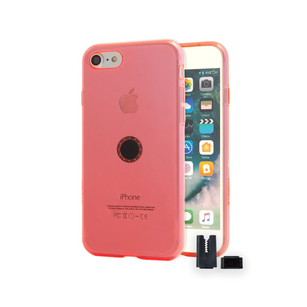 STIKGO Funda con Soporte Magnético para Coche iPhone 8/7 -Rojo...