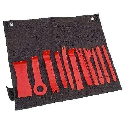 Neilsen CT2287 - Juego para quitar y ajustar tapicerí as de coches (11 herramientas)
