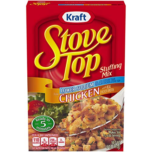 Stove Top Low Sodium Chicken Stuffing Mix (6 oz Box) (Stove Top Stuffing Mix)