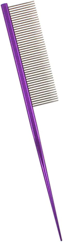 KeKeandYaoYao Pet Dogs Cats Puppy Steel Pin Brush Comb Cleaning Remove Hair Tool Purple Sparse Teeth
