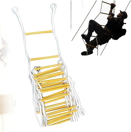 CVFDGETS Escalera De Emergencia para Cuerda De Escape De Incendios Implementación Rápida Y Fácil De Usar Escalera De Cuerda De Seguridad con Hebilla Dispositivo,25M: Amazon.es: Hogar
