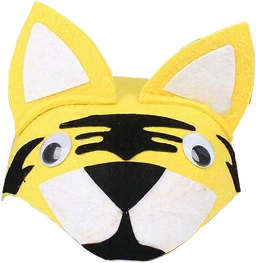 Amosfun sombreros de fiesta disfraces animales tigre lindo para ...