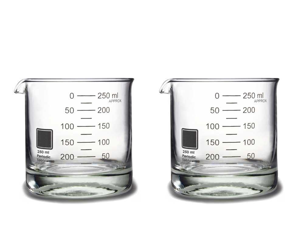 Periodic Tableware Laboratory Beaker Rocks Glasses RK01-02