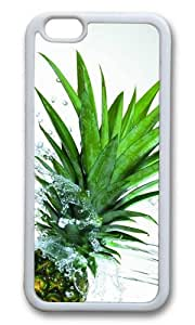 MOKSHOP Adorable Green Ananas Spash Water Soft Case Protective Shell Cell Phone Cover For Apple Iphone 6 Plus (5.5 Inch) - TPU White