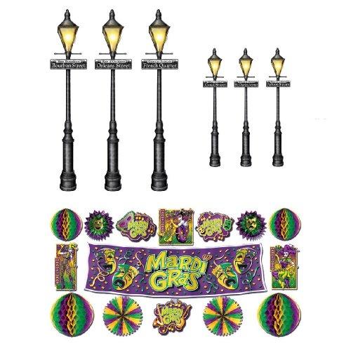 Mardi Gras Decor & Street Light Props Assortment 8 to (Mardi Gras Decoration)