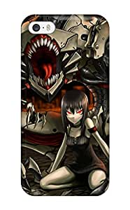 Tpu Case Cover For Iphone 5/5s Strong Protect Case - Organic Mecha Design