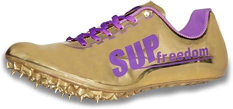 Supfreedom - Zapatillas de Pista y Campo de Microfibra para Atletismo, Carreras, Correr, Carreras, Tenis, 6, Dorado: Amazon.es: Deportes y aire libre