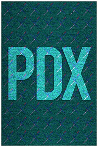 (Gotham City Online Portland International PDX Airport Carpet Art Print Poster 12x18 inch)