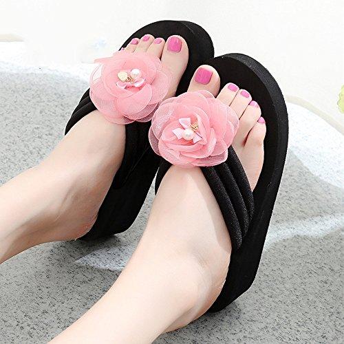 Con Estive Pantofole 6 Femminili Scarpe Sandali 1005 Alto Haizhen 33 Per Spiaggia Dimensioni Donna Da 1002 colore Donne Le Tacco Scivolose Taglie XrX8q
