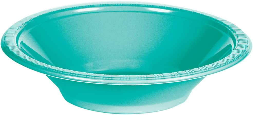 Creative Converting 324794 Touch Of Color 240 Count 12 Oz Plastic Bowls, Teal Lagoon