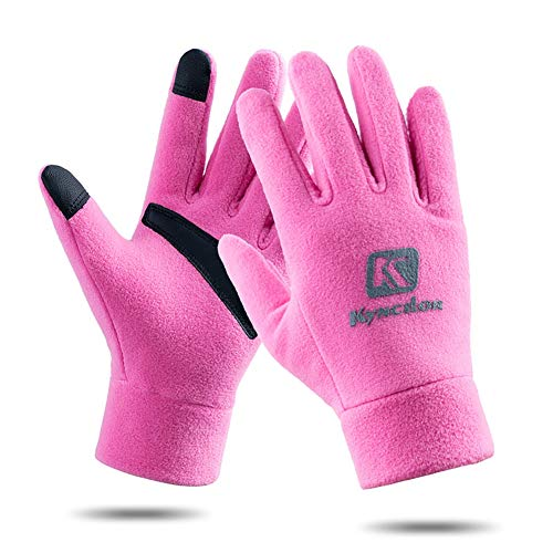 AINIYF Outdoor Sports Smart Gloves | Men's Winter Sports Mountaineering Skiing Women's Windproof Thicken Cycling Warm Motorcycle Full Finger Gloves Touch Screen (Color : Pink, Size : L) by AINIYF (Image #6)
