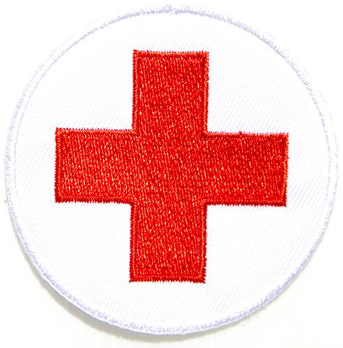 American Red Cross Medic First Aid Nurse Doctor Logo Jacket Uniform Patch Sew Iron on Embroidered Sign Badge Costume (Improvised Halloween Costumes Adults)