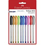 Trilux Colors, Faber-Castell, SM/032ESC10, Multicor, Pacote de 10