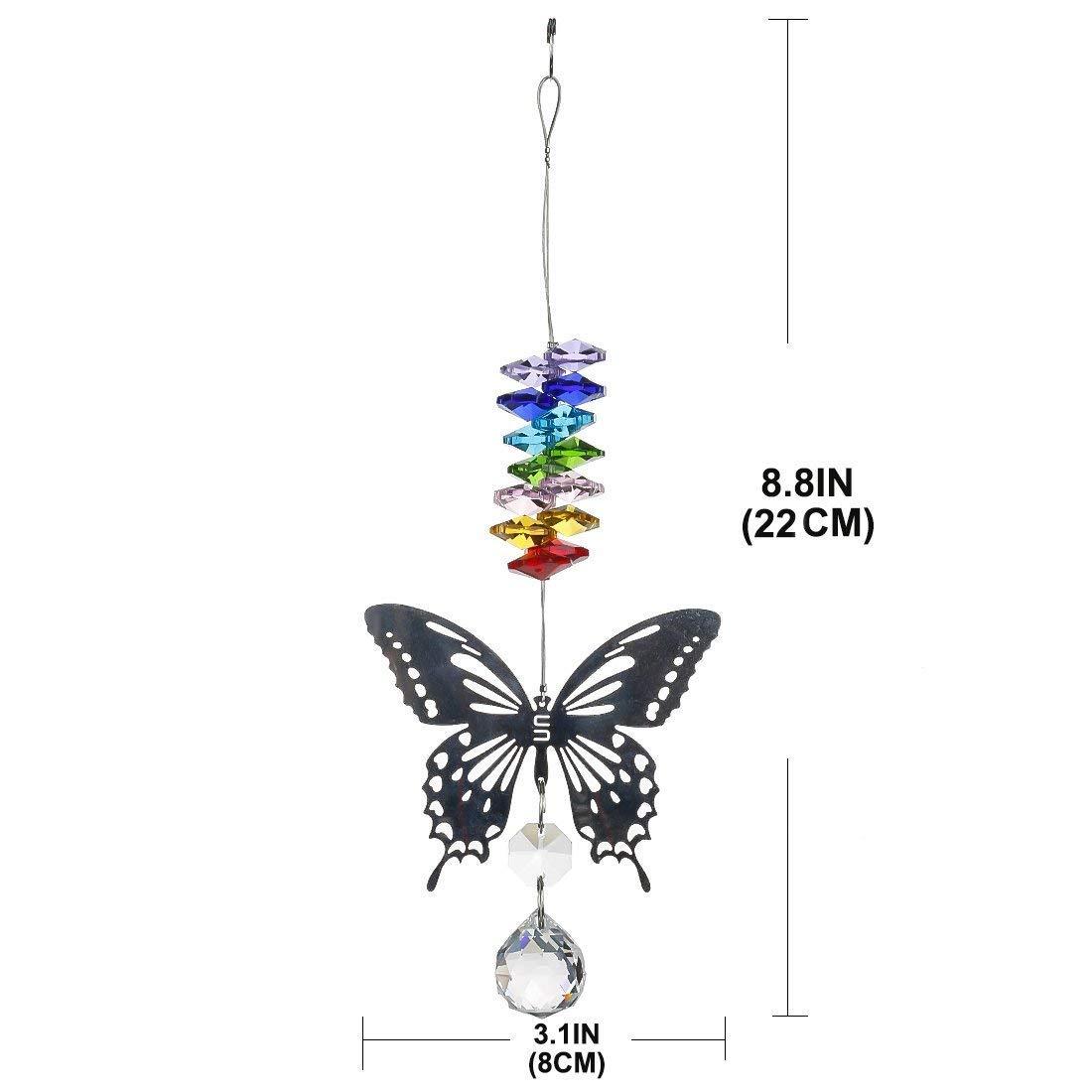 Jones Home /& Gift Carillones de viento dise/ño de mariposas con cuentas