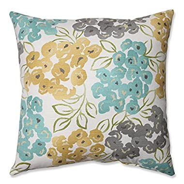 Pillow Perfect Luxury Floral Pool Throw Pillow, 18-Inch