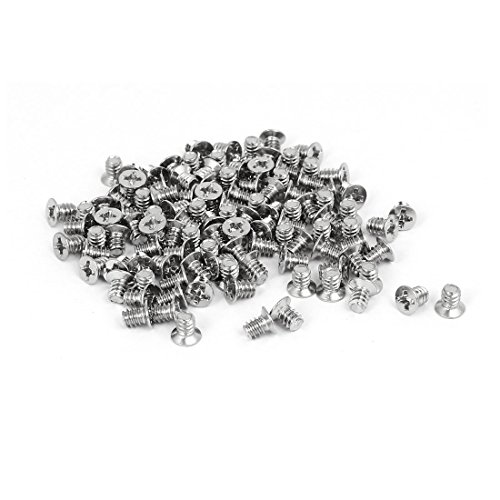 uxcell Computer PC Case 3.5-inch HDD 6#-32 Flat Phillips Head Hard Drive Screw 100pcs