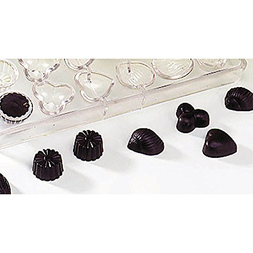 Matfer Bourgeat Polycarbonate Chocolate & Candy Molds, 24 Cups, Assorted Translucent ()