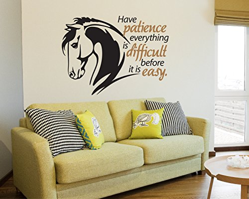 Ditooms Horse Wall Decal Quote Decal Equestrian Decor Hor...