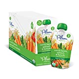 Plum Organics Stage 2, Organic Baby Food, Hearty Veggie, Carrot, Beans, Spinach and Tomato, 3.5 ounce pouch (Pack of 12)