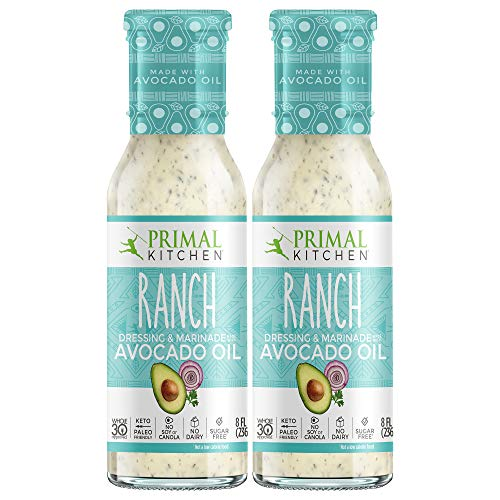 Primal Kitchen - Ranch, Avocado Oil-Based Dressing and Marinade, Whole30 and...