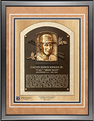 Cal Ripken Jr. 11x14 Framed Baseball Hall of Fame Plaque - Cal Ripken Memorabilia