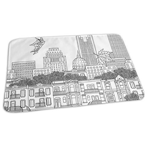 Whages Lovely Baby Reusable Waterproof Portable Montreal Changing Pad Home Travel 27.5