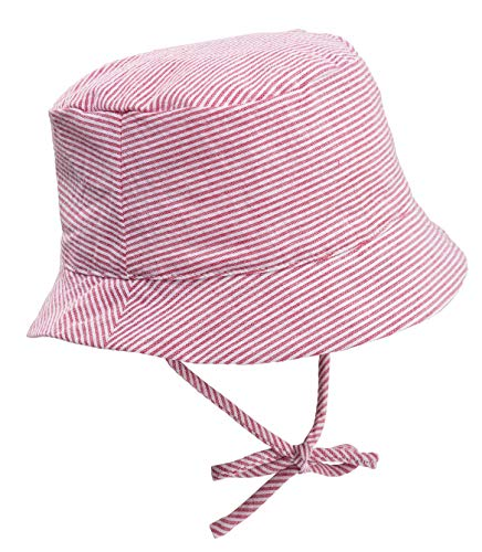 Silky Toes Baby Bucket Brim UPF Sun Protection Hat (12-18 Months, Candy)