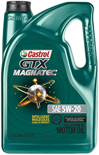 Castrol 03063 GTX MAGNATEC 5W-20 Full Synthetic Motor Oil, 5 Quart, 3 Pack 15 Quart Oil Drain