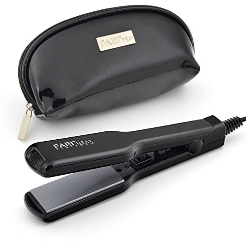 FARIHEAT Travel Mini Hair Flat Iron, Dual Voltage 1 Inch Cer