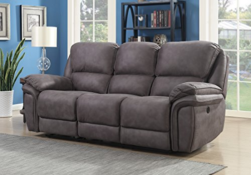 MorriSofa MNY2007-6P-3000-27174 Jackson Power Reclining Sofa, 90 x 40 x 41.5 , Grey