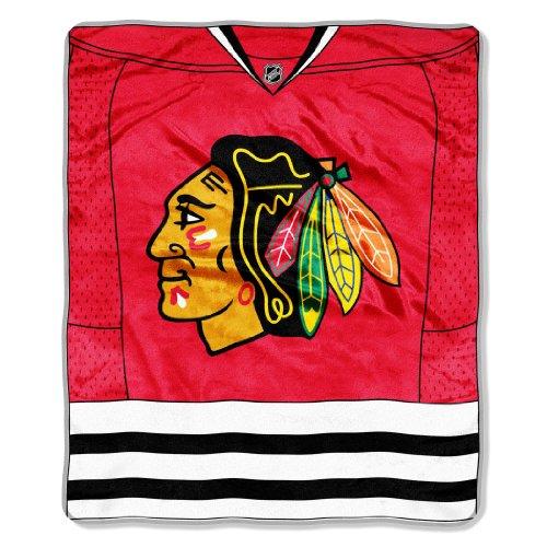 NHL Chicago Blackhawks Jersey Plush Raschel Throw, 50