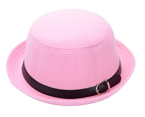 f0ad1b8928e Image Unavailable. Image not available for. Color  East Majik Women Roll  Brim Bowler Derby Hat - Pink