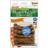 Nylabone Healthy Edibles Natural Dog Treats, Bacon, X-Small, 8 Count