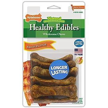 Nylabone Healthy Edibles Petite Bacon Flavored Dog Treats, 8 Count