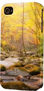 Autumn Fall Colors Mountain Stream Plastic Snap On Decorative iphone 6 plus Case