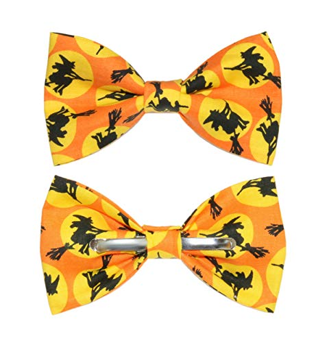 (Men's Witches Clip On Cotton Bow Tie Halloween Novelty)