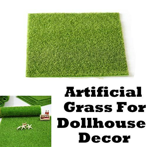 (Maikouhai Artificial Faux Garden Turf Grass Lawn Moss Miniature Craft Dollhouse Decor for DIY Micro Landscaping - Plastic, L/S, 12x12 Inch / 6x6 Inch (L))