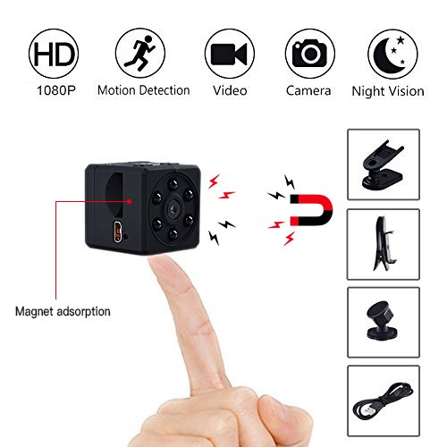 LONENESSL Super Mini Hidden Spy Camera, 1080P Portable Pocket Nanny Camera with Night Vision and Motion Detection, Perfect Security Camera for Home and Office Use.