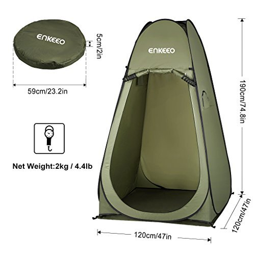 Enkeeo Portable Privacy Tent Pop Up Changing Tent Dressing
