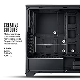 MasterBox 5 Mid-tower Computer Case with Internal Configuration - ATX, Micro ATX, Mini ITX Supported - Black